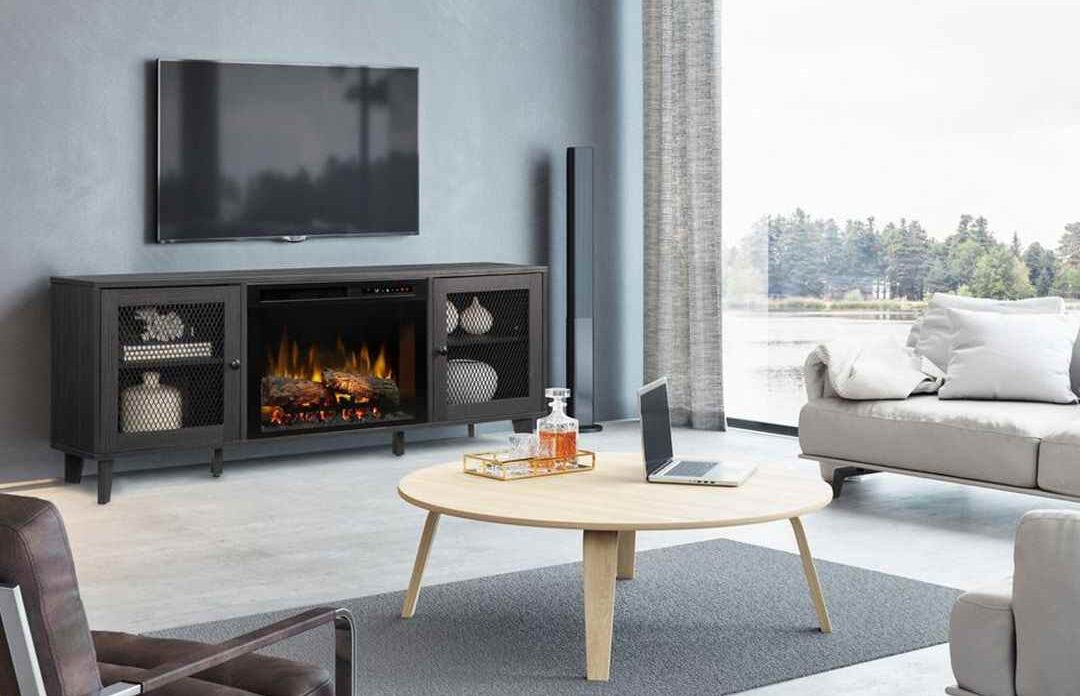 best media console electric fireplace