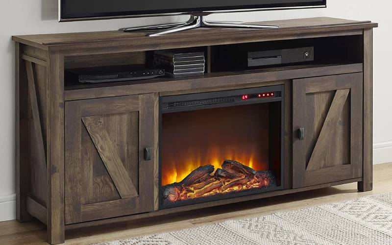 corner electric fireplace review